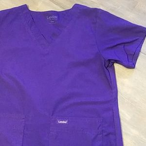 Landau Tops - Women's S Purple Landau scrub top